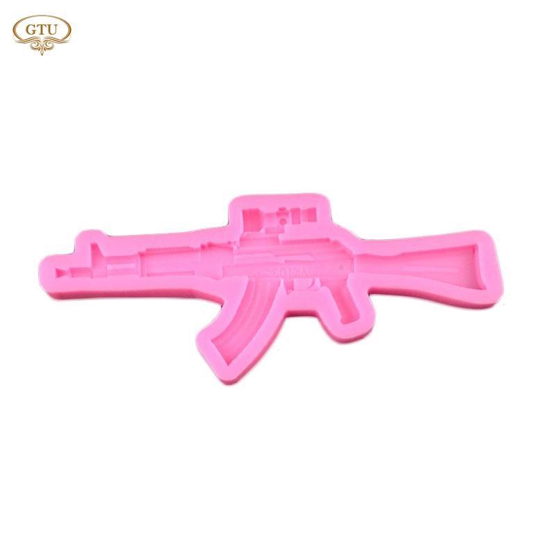 Creative Cute Machine Gun Silicone Fondant Molds Baking