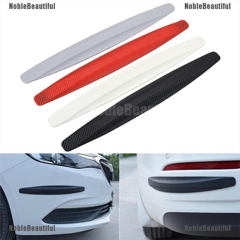 2pcs Car Black Rubber Bumper Corner Guard Scratch Sticker Protector For Toyota