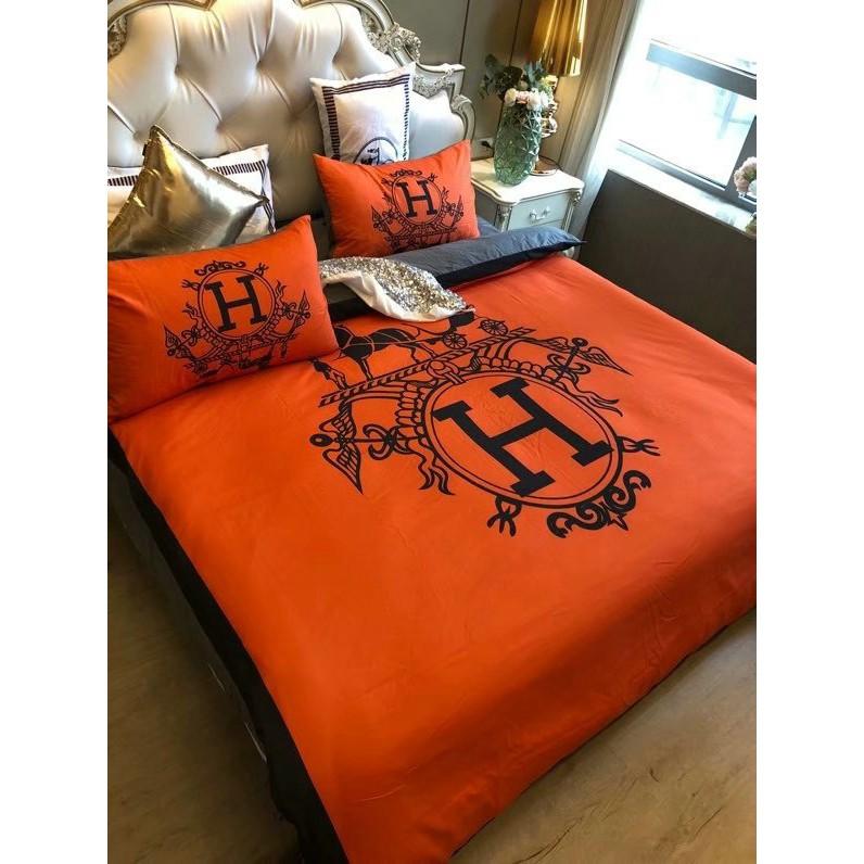 Simple Hermes Cotton Bed Sheets Duvet, Harley Davidson Queen Size Bed Sheets
