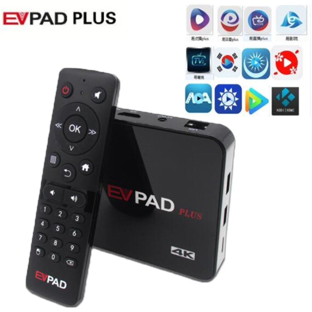 Evpad plus TV Box 1000+ Free Live Channel Streaming IPTV box