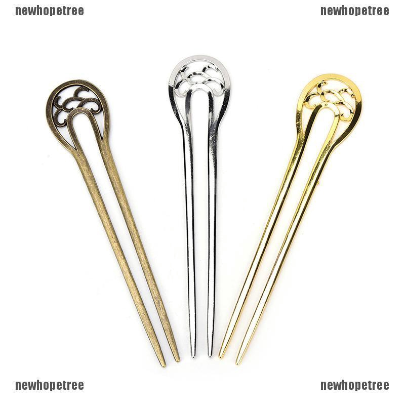 Styling Tools Hair Fork alloy Metal Hair Stick Hairpin  U Shape Hair Clip