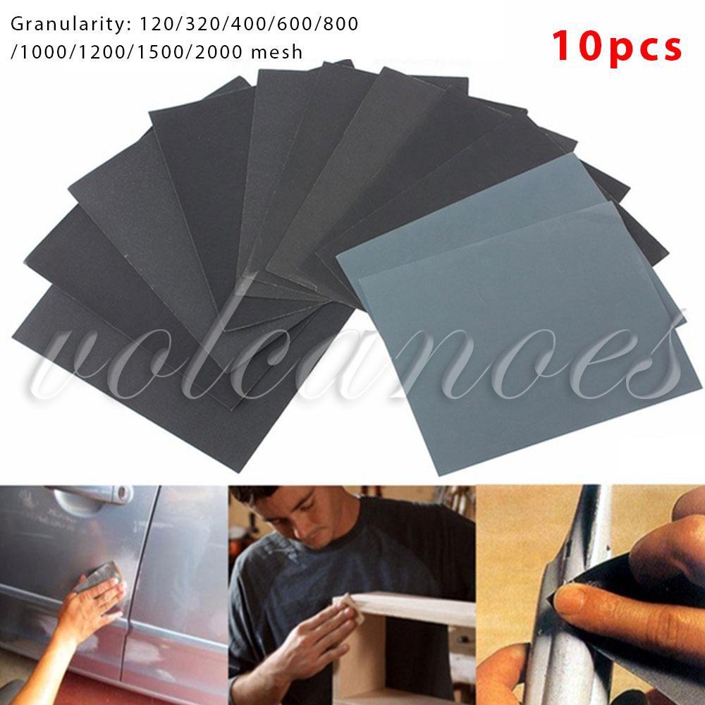 Wet//Dry Sandpaper 230×280mm 80//120//320//400//600//800//1000//1200//1500//2000 Grits