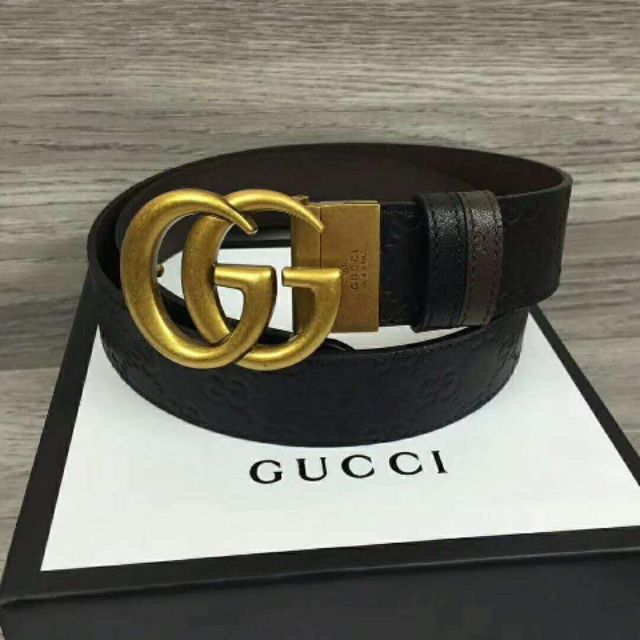 be32aa2f6 Highend Gucci Belt GG Logo Leather in Black | Shopee Philippines