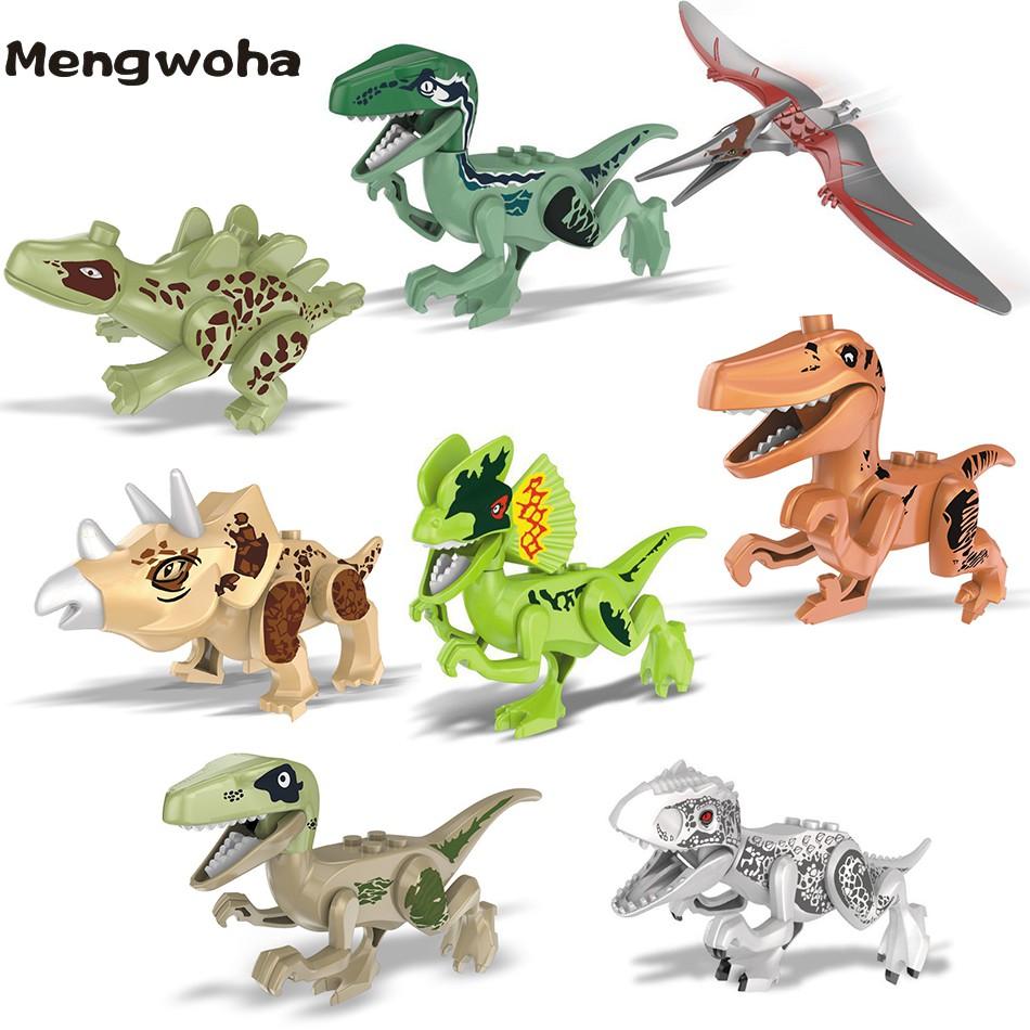8pcs Dinosaur Rex Full Size Dinosaur Figure Blocks Mini figure for Lego Toys Set