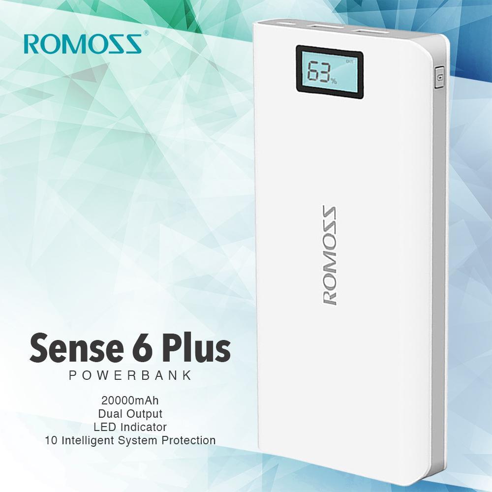 Z.Romoss Sense 6 Plus 20000mAh LCD Display Dual Powerbank