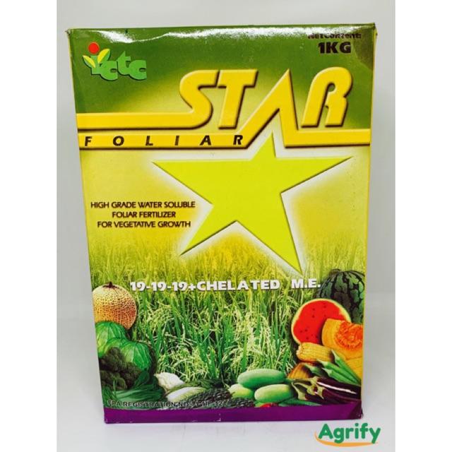 Star Foliar Fertilizer 1kg 15-15-15 and 19-19-19