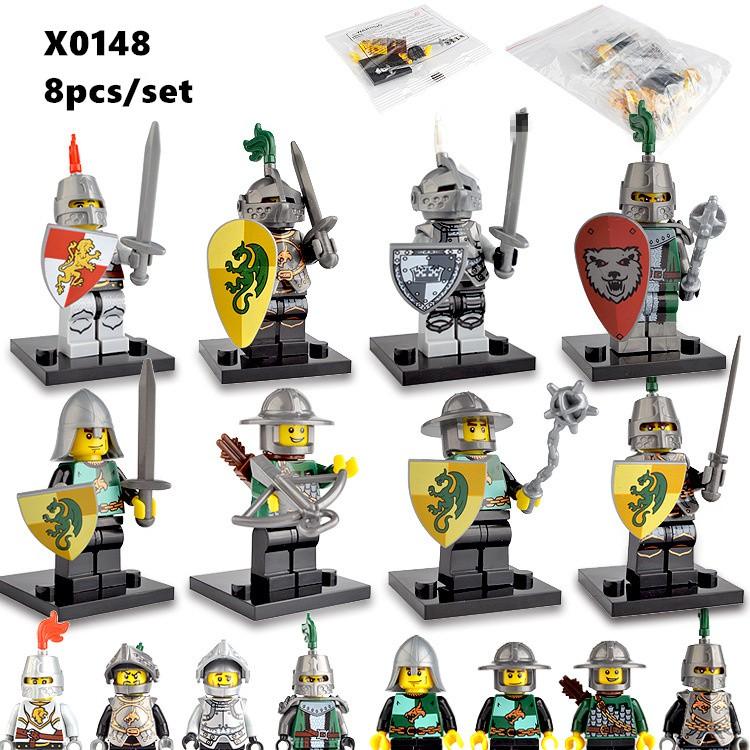 21pcs//set Knight Archer Medieval Knights Fit Lego Minifigures