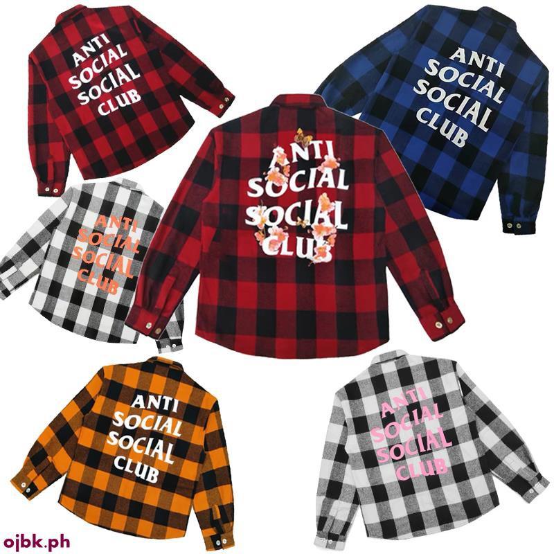 e977a13dbbdf ASSC black red plaid shirt ANTI SOCIAL SOCIAL CLUB flannel c ...