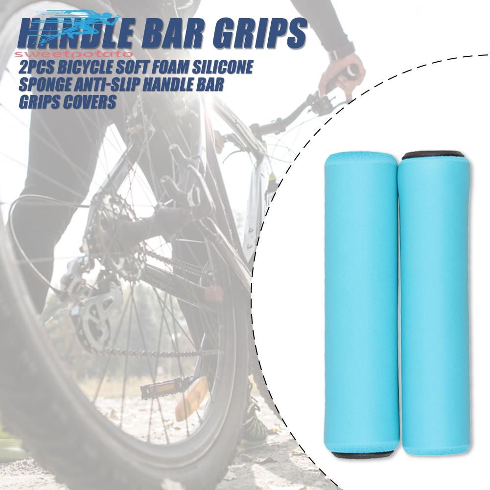 2pcs Universal Bicycle Handle Bar Grip Soft Foam Silicone Sponge Handlebar Cover