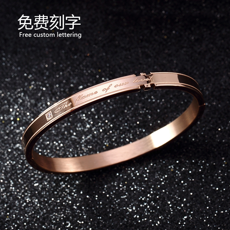 Plating 18k Rose Gold Bracelet