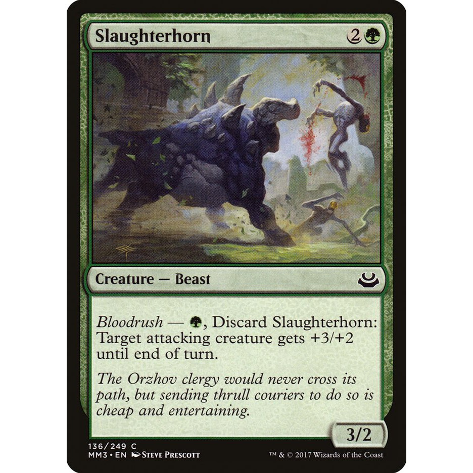 Slaughterhorn Magic The Gathering Shopee Philippines With this deck, we utilize powerful. shopee