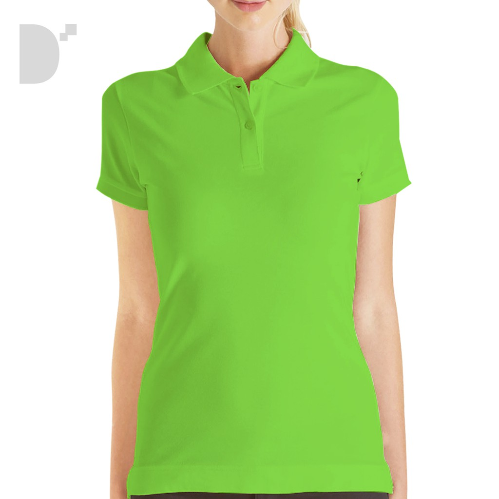 Lifeline Polo Shirt For Ladies In Neon Green
