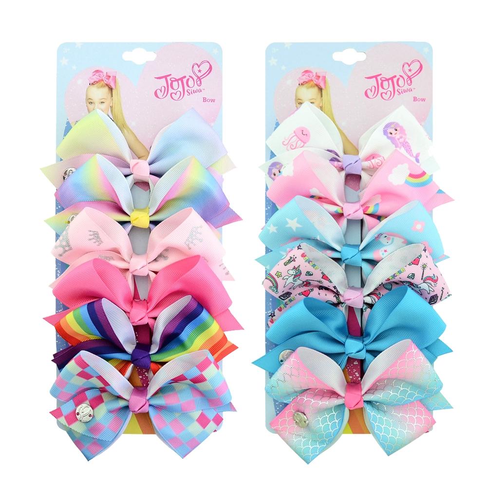 Girl/'s Hair Pin JOJO SIWA 8 Inch New Kids Printed Hair Bow Unicorn Bows Clip