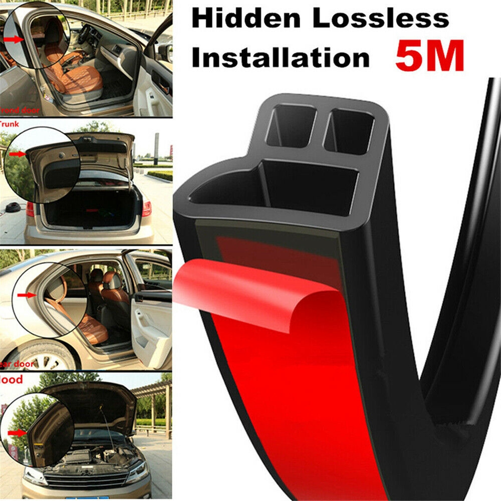2M White Car Door Scratch Protector Edge Seal Trim Seal Guard Rubber Strip UK