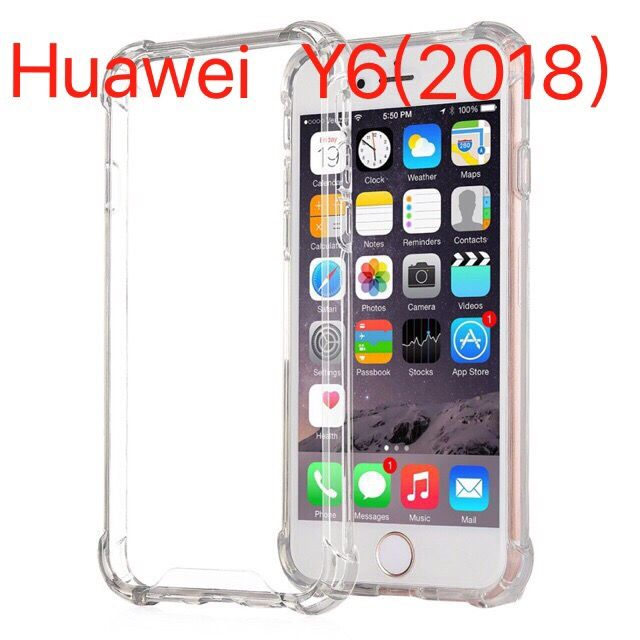 huawei y6 2018 shockproof hard case clear