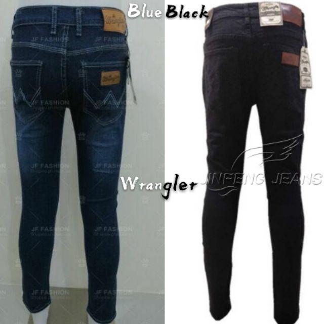 69bf16db Wrangler Blue Jeans For Men's Pants Skinny Strechable #8801 | Shopee  Philippines