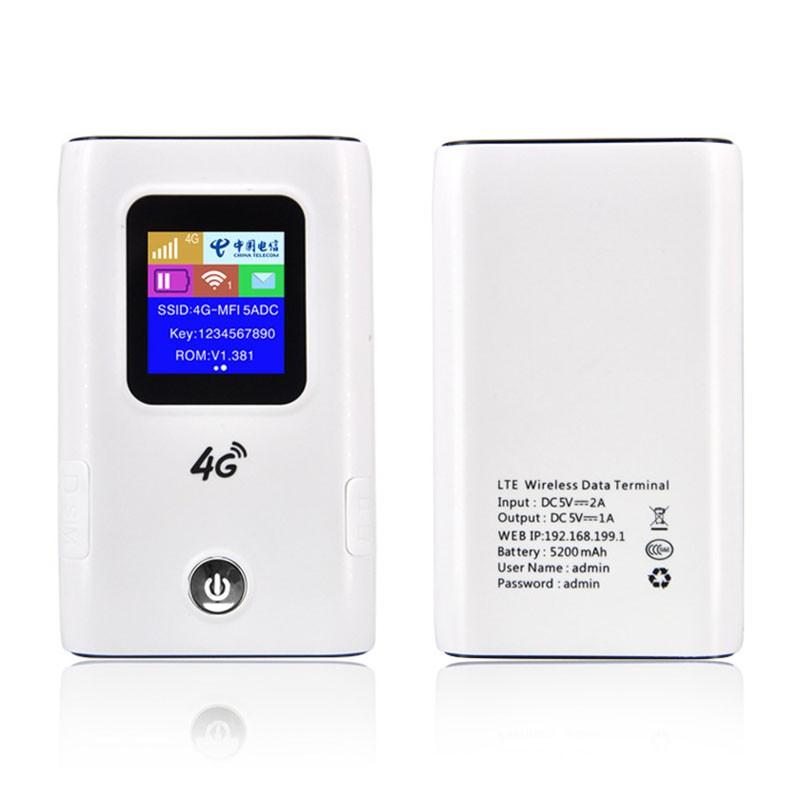 4G Wifi Router Car Mobile Hotspot Wireless Broadband Pocket Mifi Unlock Lte  Modem Wireless