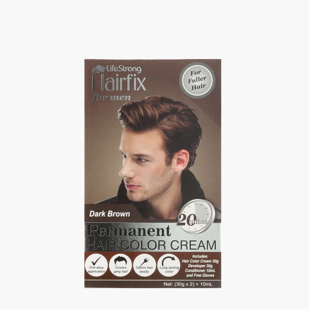Hairfix Dark Brown Permanent Hair Color Cream for Men
