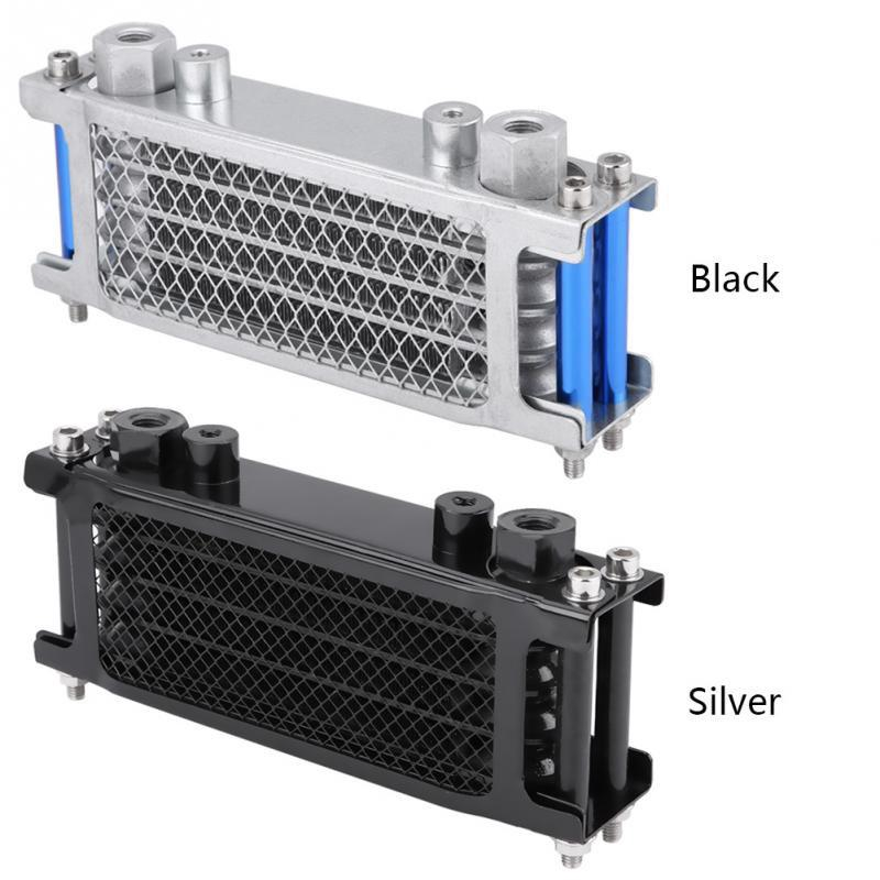 Universal Motorcycle Engine Oil Cooler Cooling Radiator