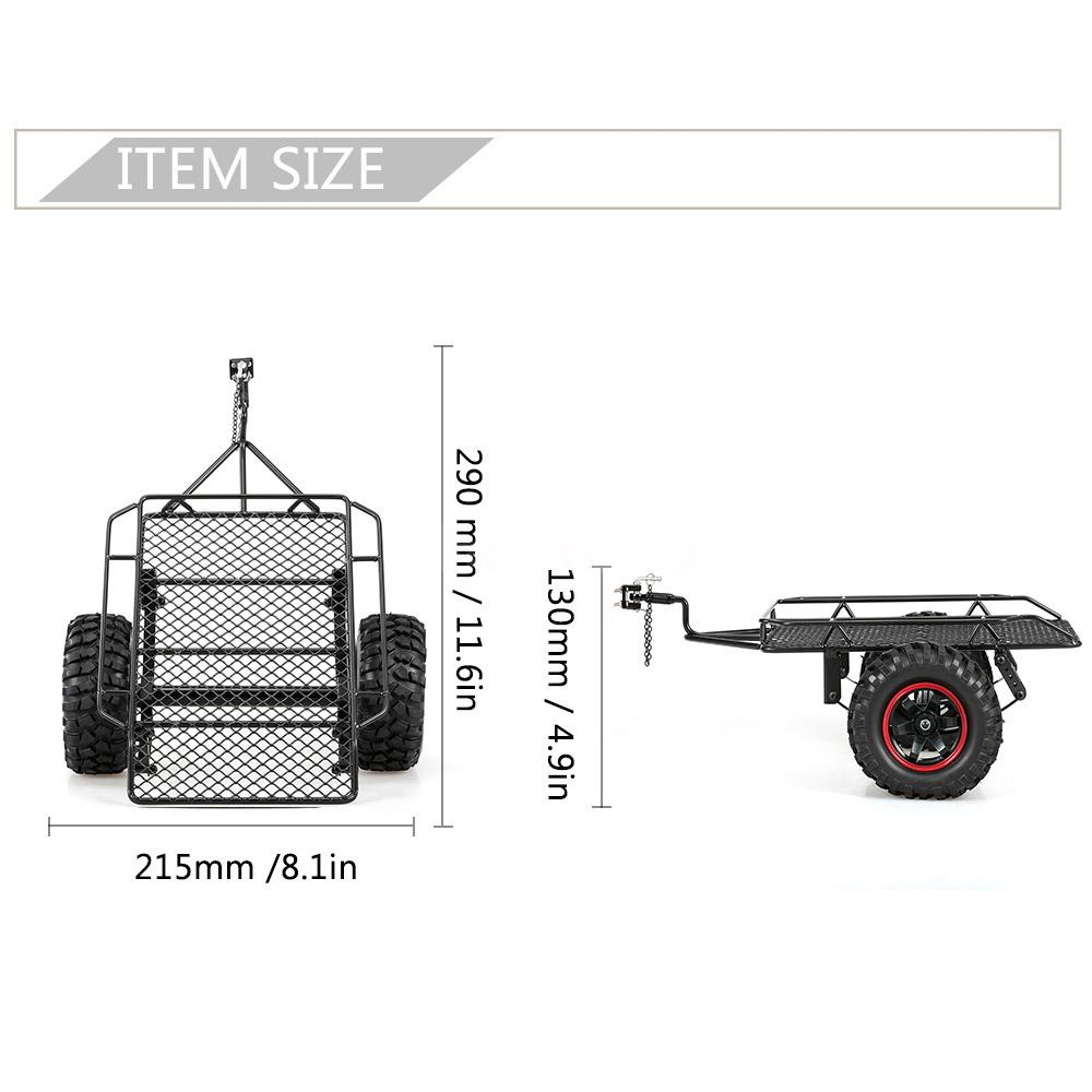 Metal Trail Car Trailer Hopper For 1 10 Traxxas Hsp Redcat Rc4wd Tamiya Axial Rc Parts Accessories