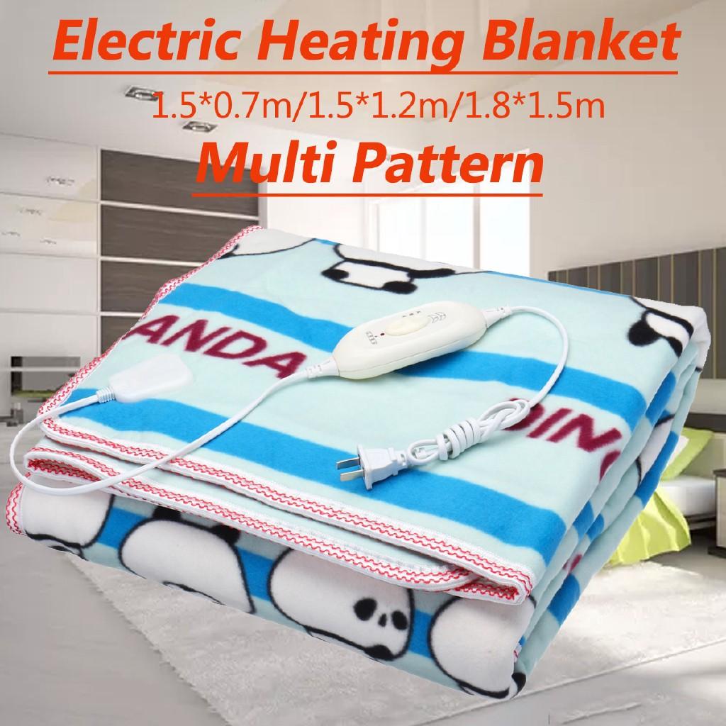 ♗OE Electric Heated Blanket Warm Soft