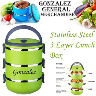 66dcffd76d4 LB-03 3 Layers Stainless Steel Insulated Seal Lunch Box. ₱299