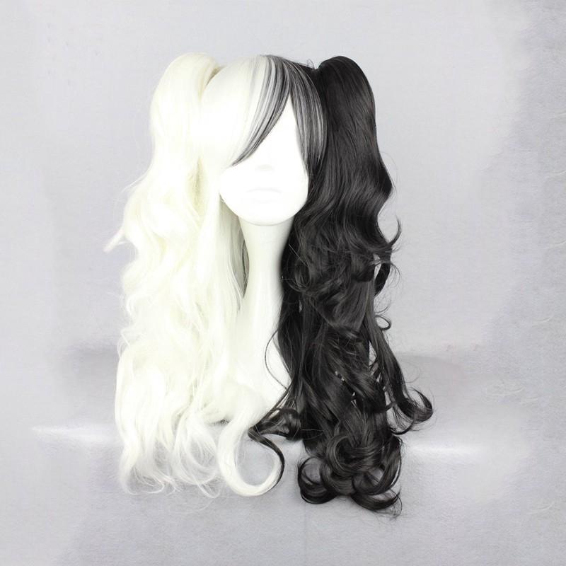 Free Hairnet Dangan-Ronpa 2 Mono Kuma Short Black White Cosplay Wig