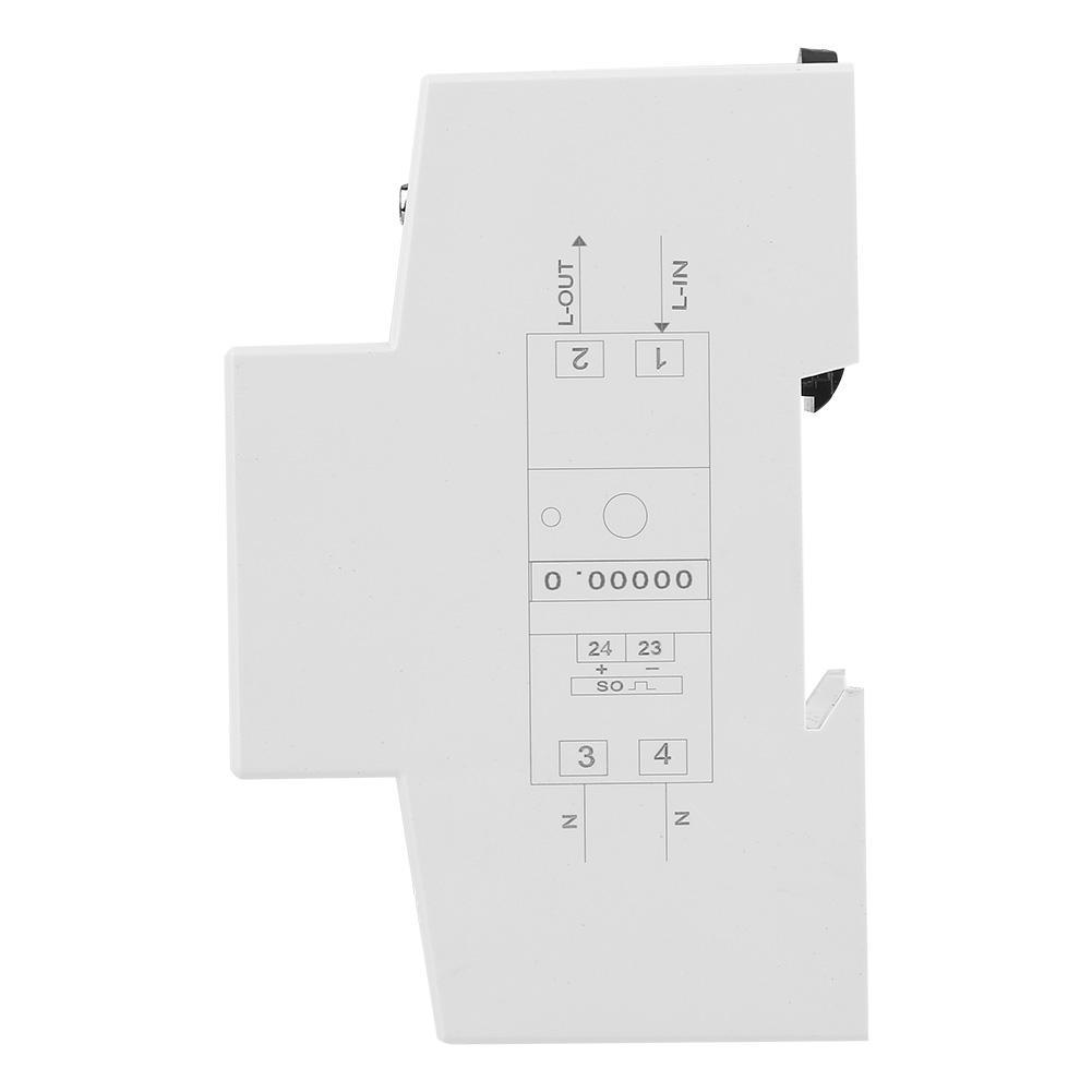 5-80A 230V 50Hz Single Phase Energy Meter DDS015 Digital LCD Energy Meter Watt Meter DIN Rail Mounting