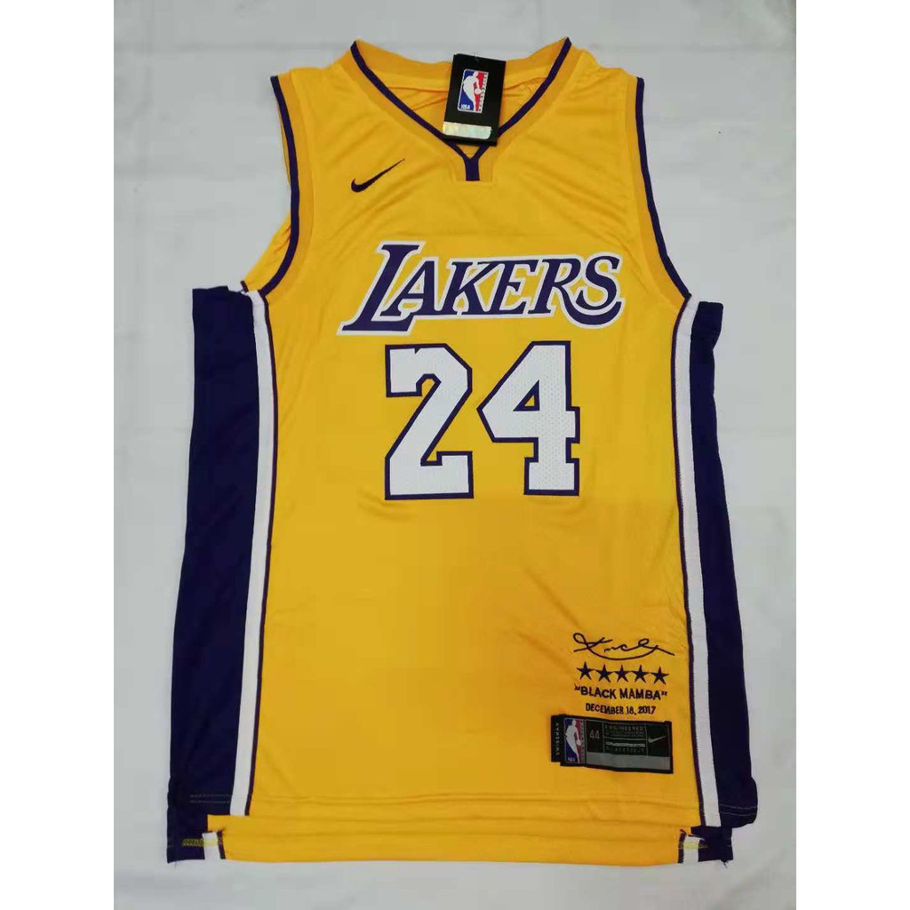 NBA Lakers 24 Kobe Bryant Swingwman Jersey  b7d478c48
