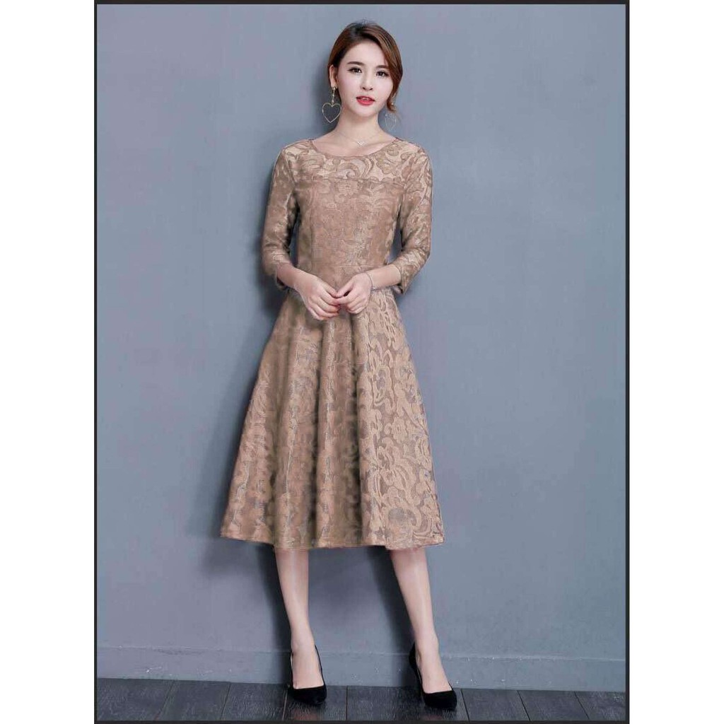 Korean Elegant Lace Dress