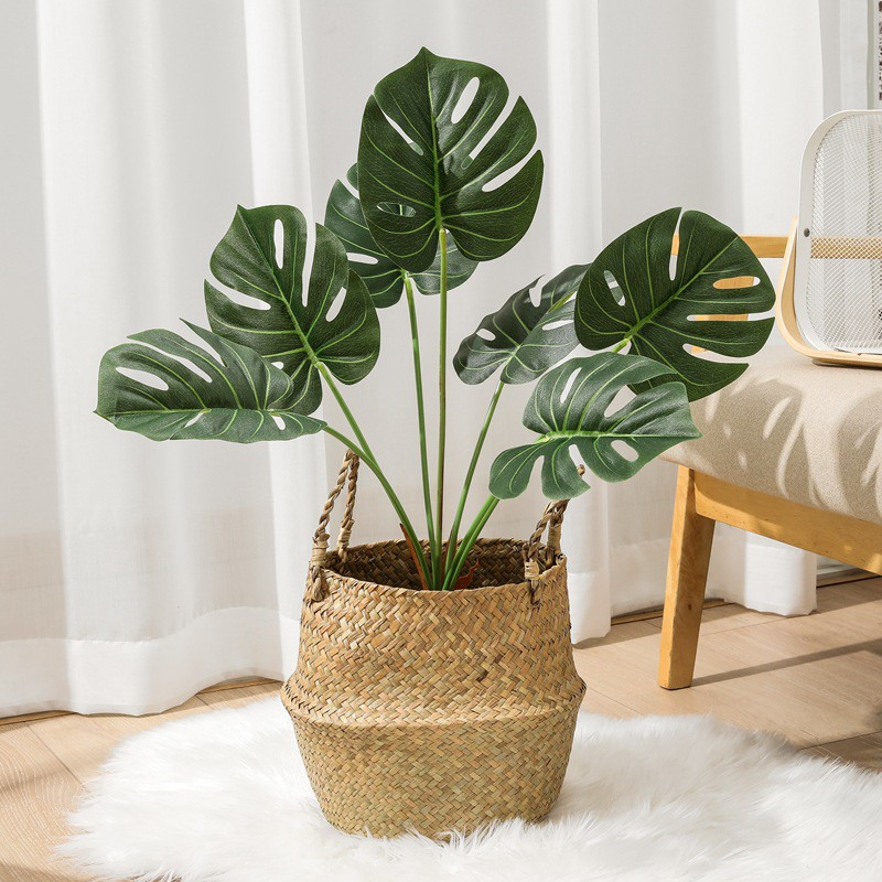 Artificial Monstera Fake Plants Artificial Big Plants Tall Plants For Home Decoration Home Plant Decor Shopee Philippines