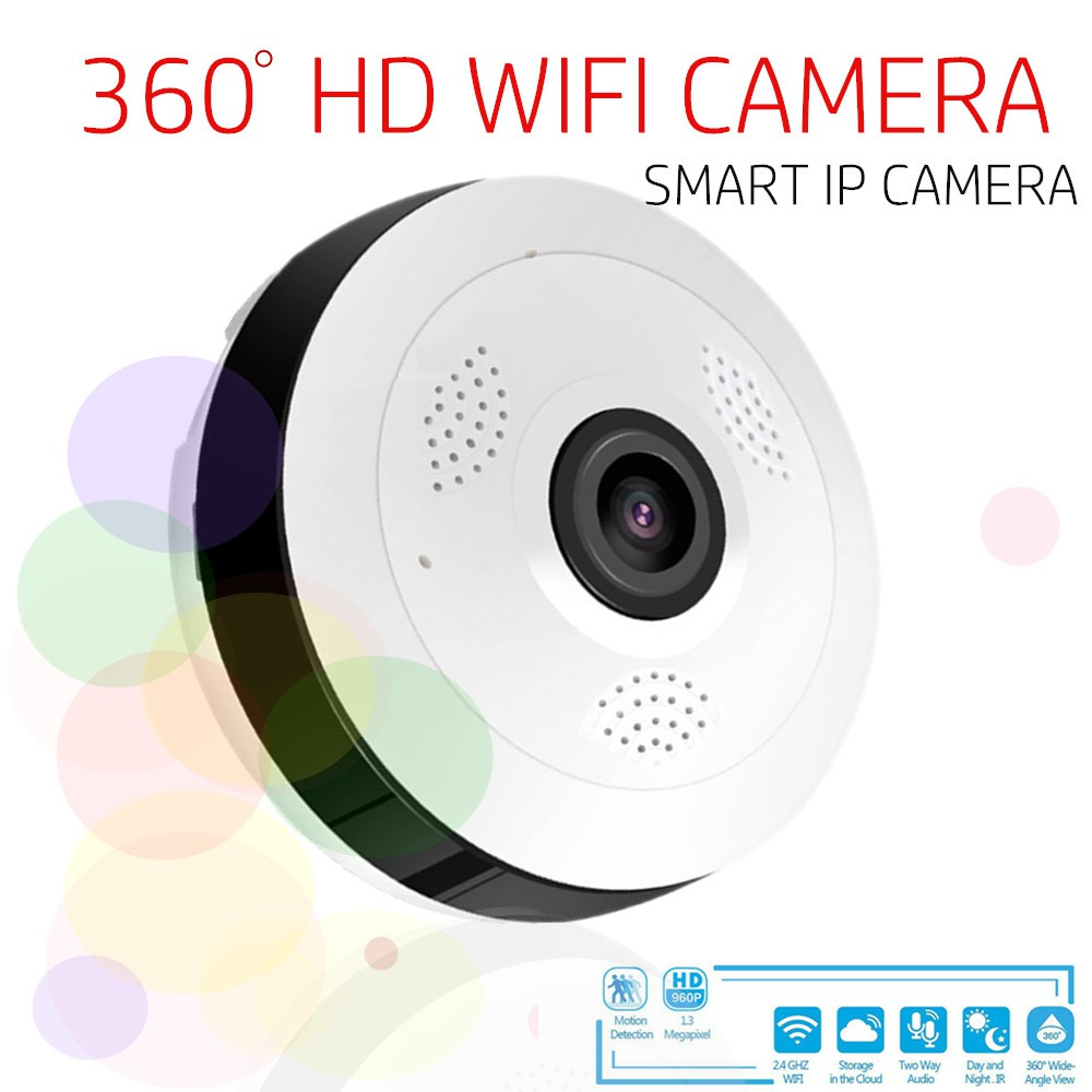 HD Fisheye WIFI Camera Monitor 360° VR Panoramic Camera V380