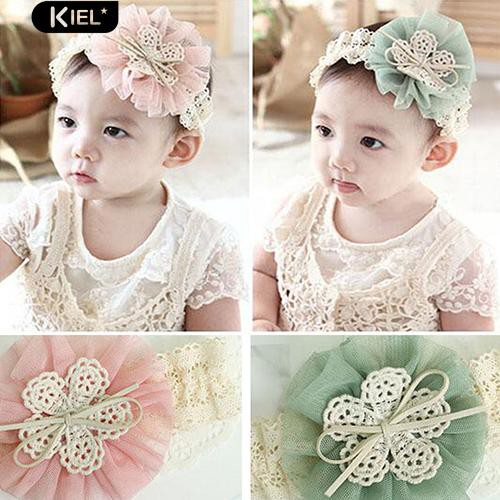 Kids Baby Girl Bowknot Headband Fashion Polka Dot Hair Band Headwear Decor Drip-Dry Mother & Kids