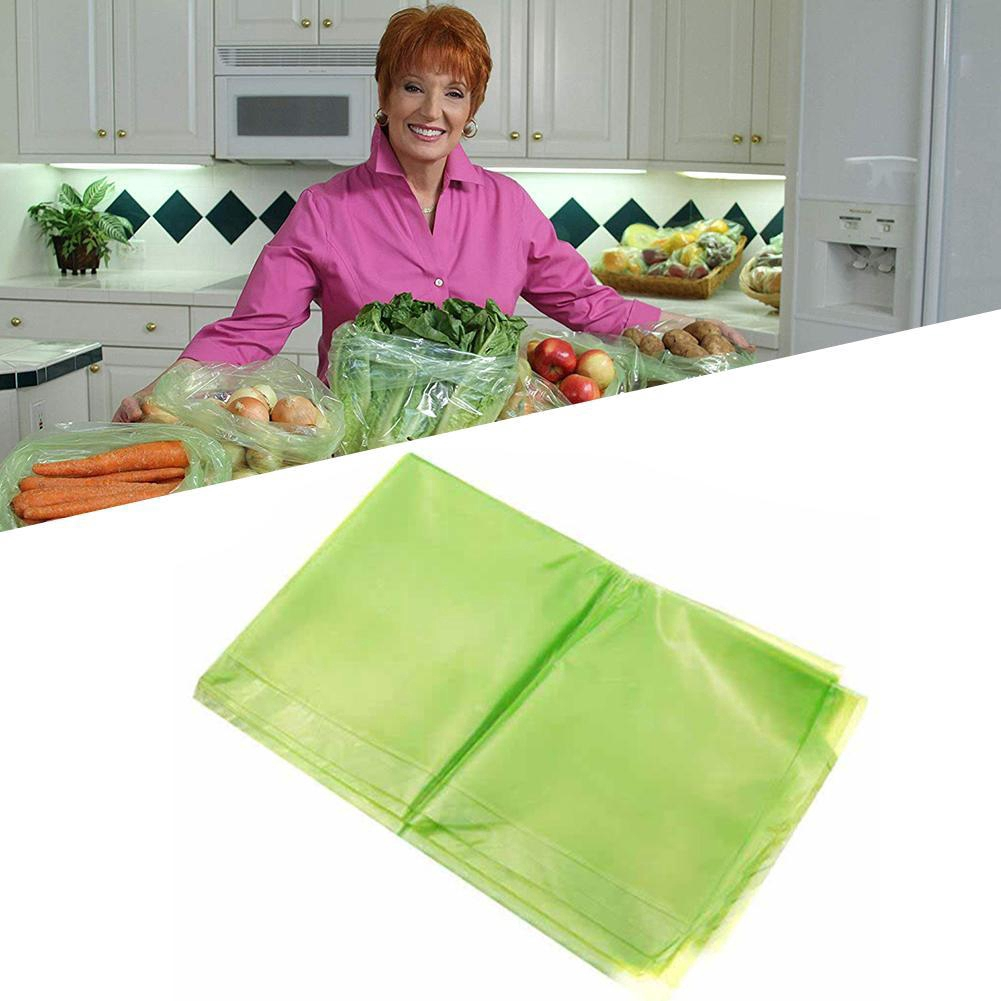 Keep Stay Fresh Longer Green Bags Storage Vegetable Fruits Greenbags Big 50 pcs