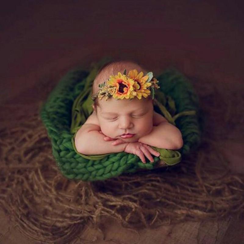 1PC Newborn Jute Backdrop Blanket Baby Photography Prop Chunky Burlap Layer Net