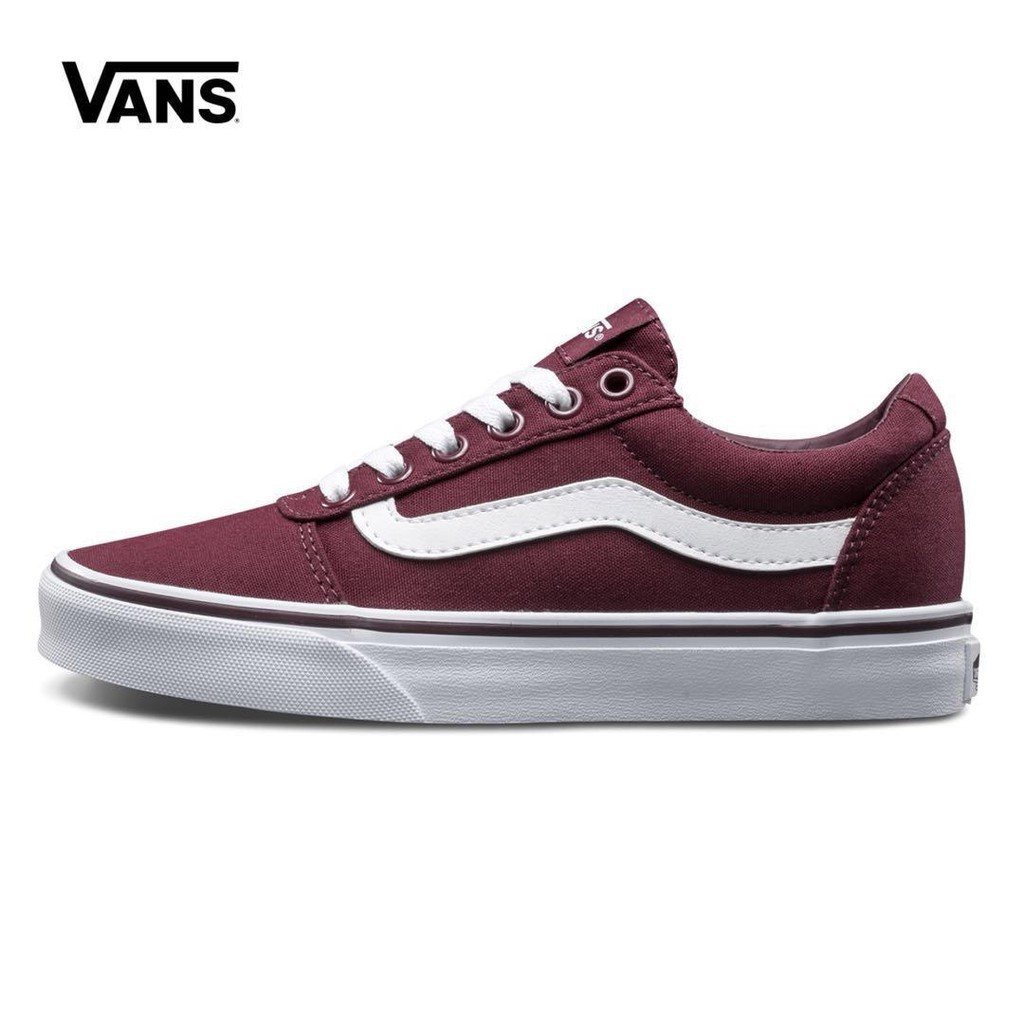 Acercarse pronóstico Tres  100% Original COD Vans Milton Wine Red Side Stripes Skateboard | Shopee  Philippines