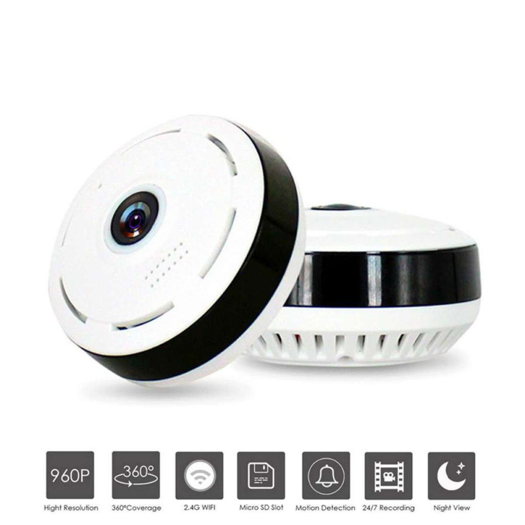 HD Fisheye WIFI Camera Monitor 360° VR Panoramic Camera V380