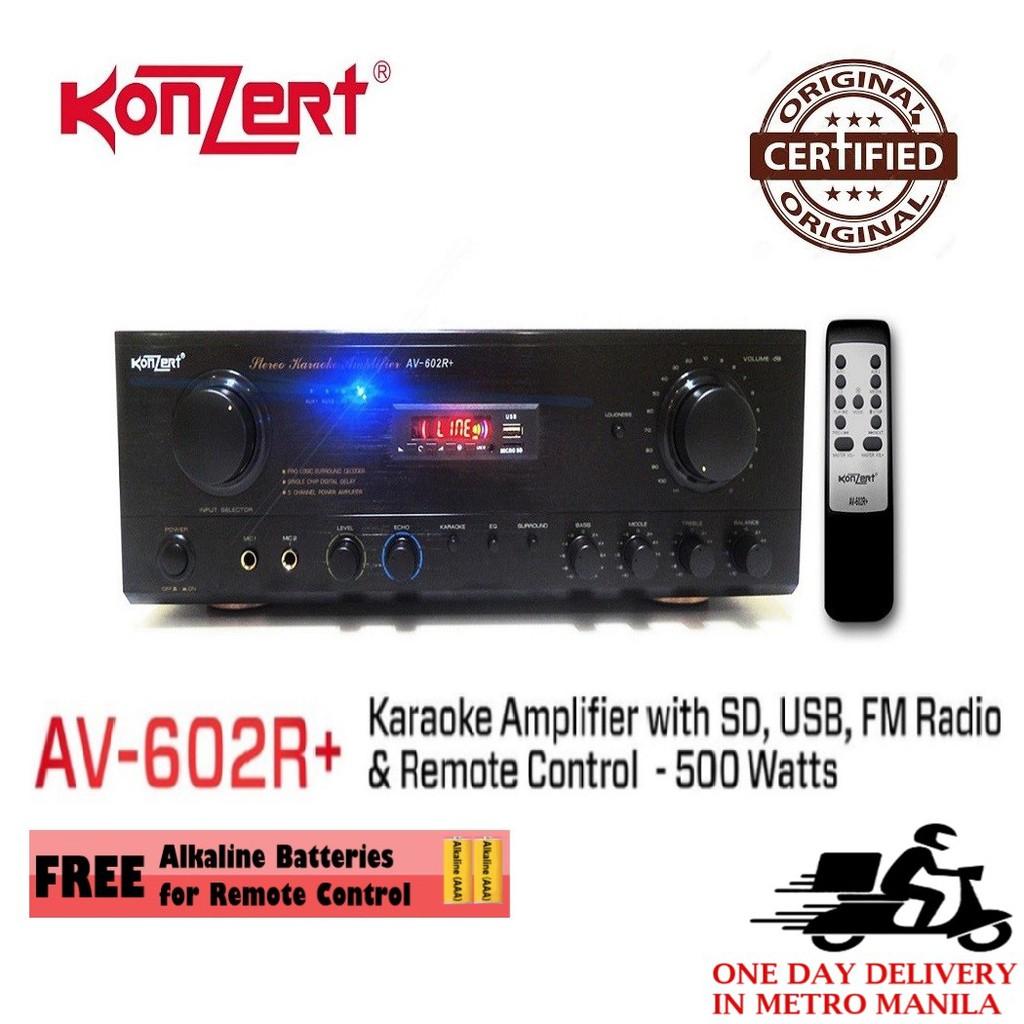 Konzert AV-602R+ Karaoke Amplifier