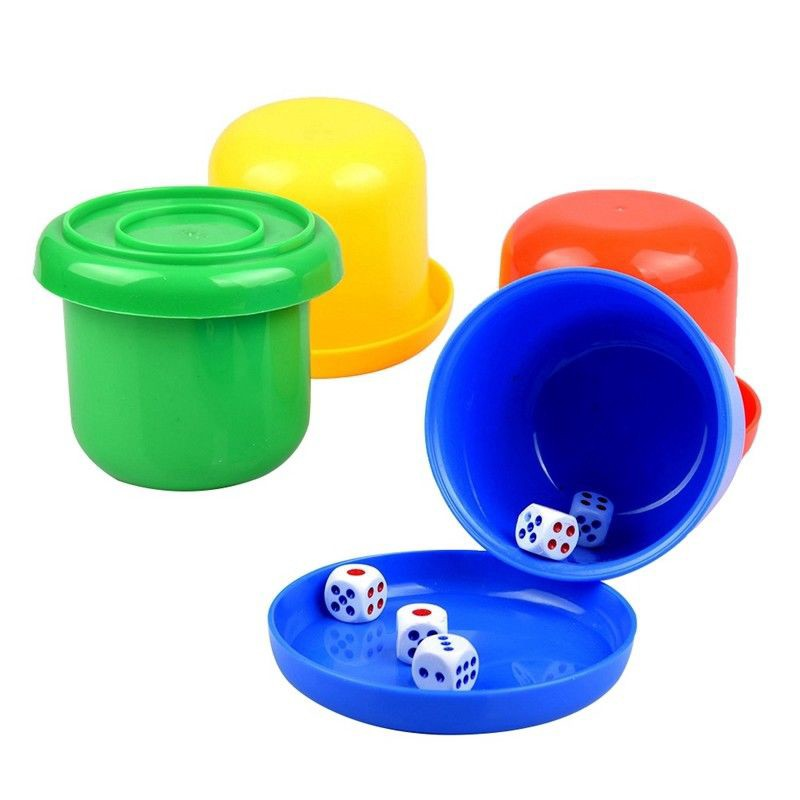 ABS Dice Tray Cup Game Kit KTV Bar Casino Gambling Party Entertainments  Supply