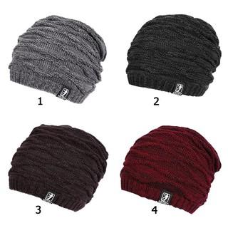 d13795b4656e Unisex Winter Warm Hats Men Women Knitted Cap Beanie Bonnet | Shopee ...