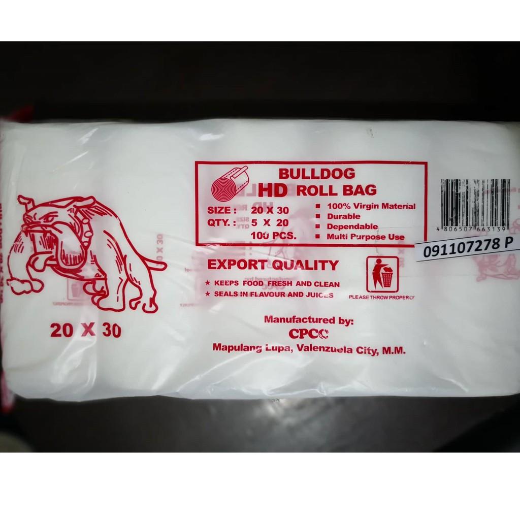 HD Plastic Packaging 20 x 30 ROLL - Bulldog (100 pcs)