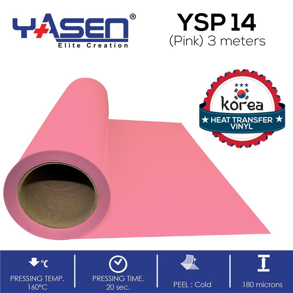 photograph about 3m Printable Vinyl named Korea YSP 14 Crimson PVC Vinyl for Tshirt Printing 3m