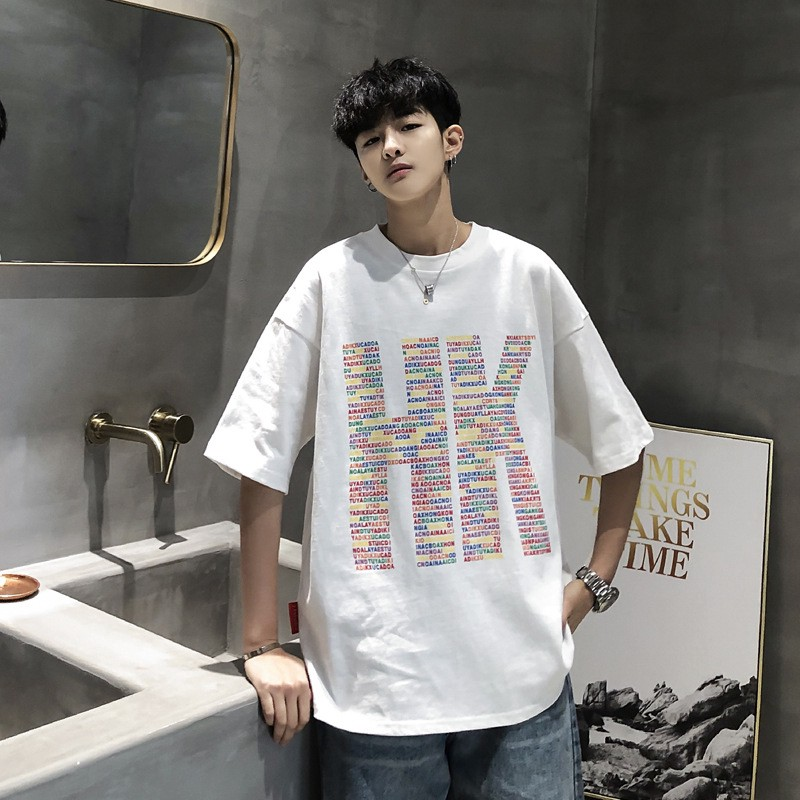 Summer Clothes Male Short Sleeved T Shirt Korean Tide Loose Bf Harajuku Wild Shopee Philippines