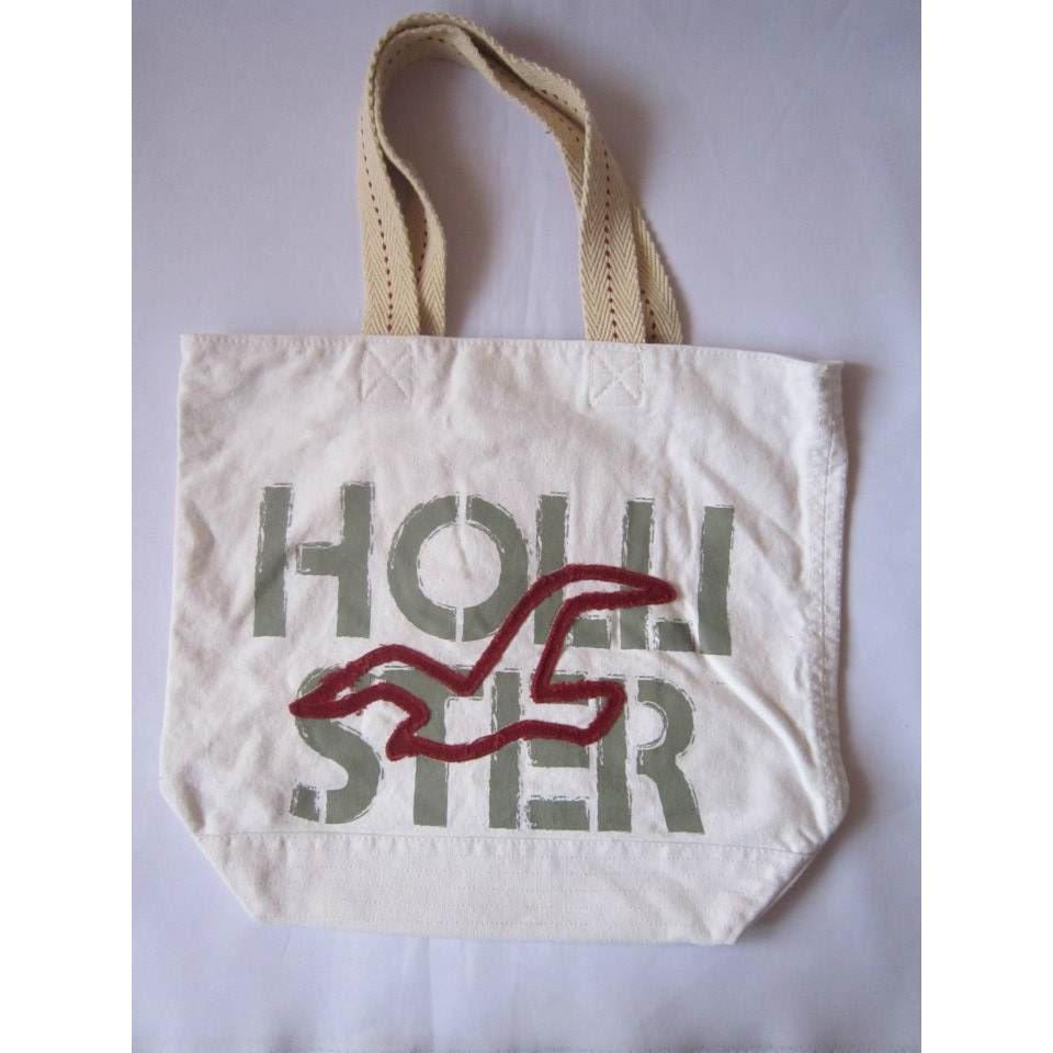 1921f076006f HOLLISTER Canvas Beach Shopping Tote Bag