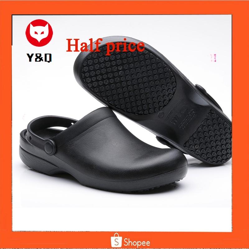 Chef Shoes Women Men Cook Clogs Safety Antislip Kitchen Shoes Sandals Black New