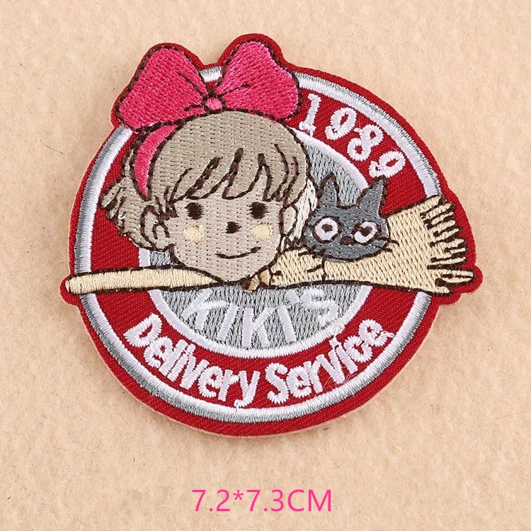 Girls Patch Cute Badge Hello Kitty Iron On Patch Embroidered Sew On Badge