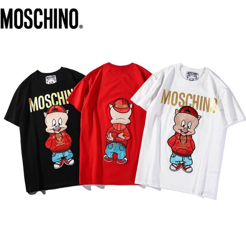 8f1b9c4b7 Moschino casual plus size T-shirt loose letter cotton tops | Shopee  Philippines