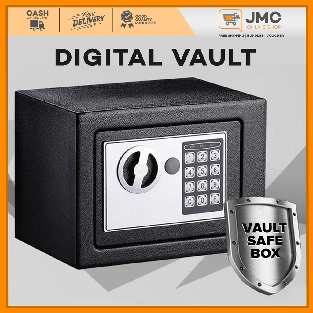 Digital Vault Electronic Steel Keypad Lock Password Security Safe Deposit Box Shopee Philippines