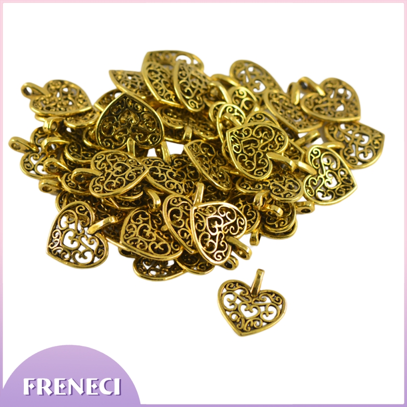 DIY 50pcs Charm Tree Leaf Filigree Hollow Cut Pendant Branches Jewelry Finding