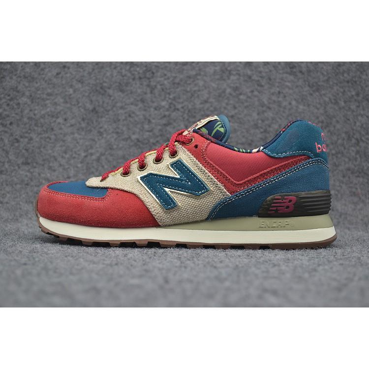 les ventes chaudes 00b31 c51a6 Original New Balance 574 Nb574 Men's Women Running Shoe Red